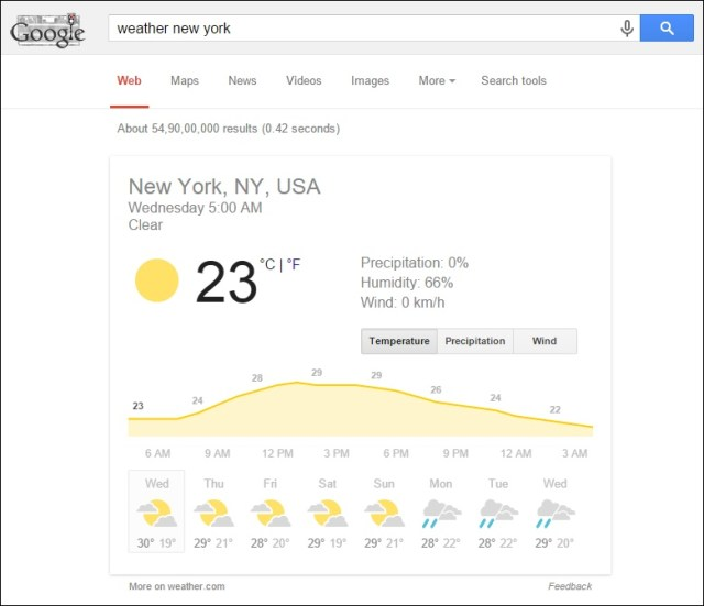 Получить живую информацию о погоде