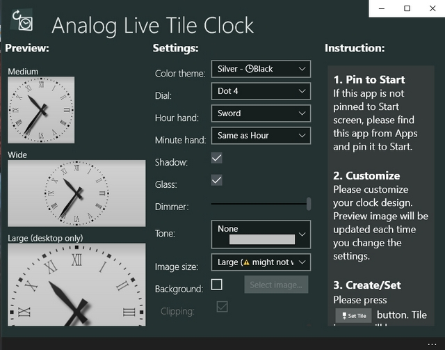 Analog Live Clock Windows 10 app