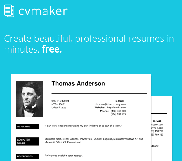 online-resumes-cvmaker
