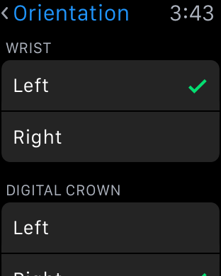 Change Apple Watch Orientation