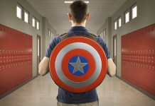 Captain America Shield Backpack - Geeky gifts for Christmas