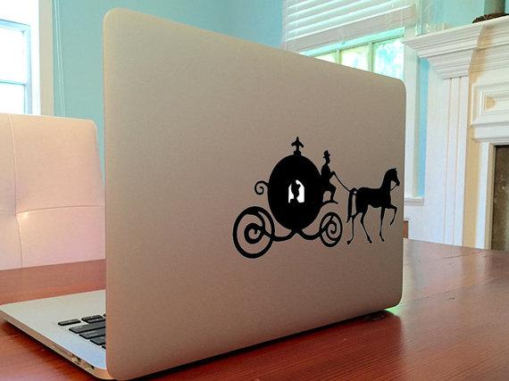 Cinderella Macbook Decal Sticker