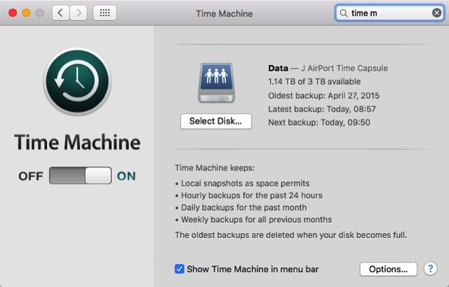 Clean Mac 02 - Time Machine