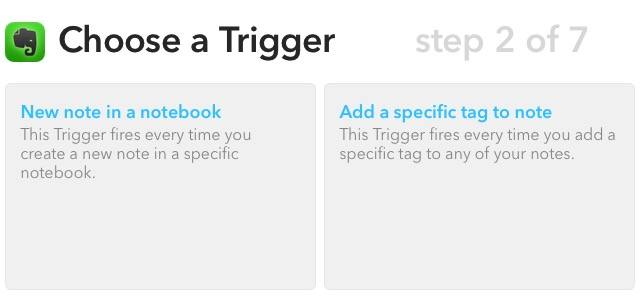 Evernote X 01c - Choose a trigger
