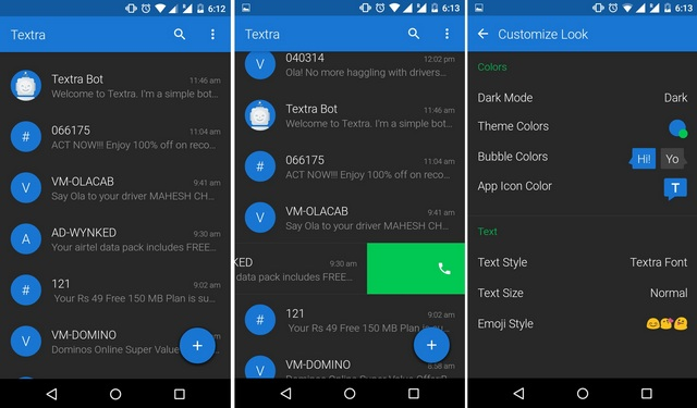 Textra SMS Android app