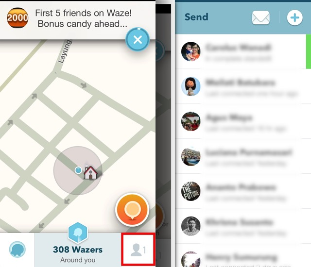 Waze -bb- 06a - Open Contacts