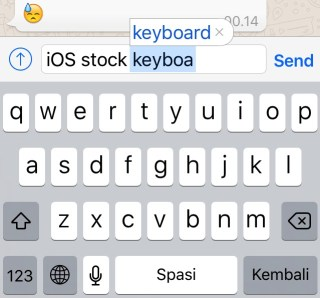 iOS Keyboards -bb- 01 - Stock Keyboard