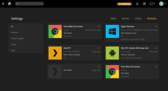 plex streaming settings