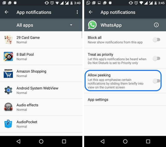 Android 6.0 Marshmallow peeking