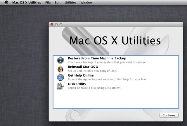 Mac Boot Options -bb- Recovery Mode
