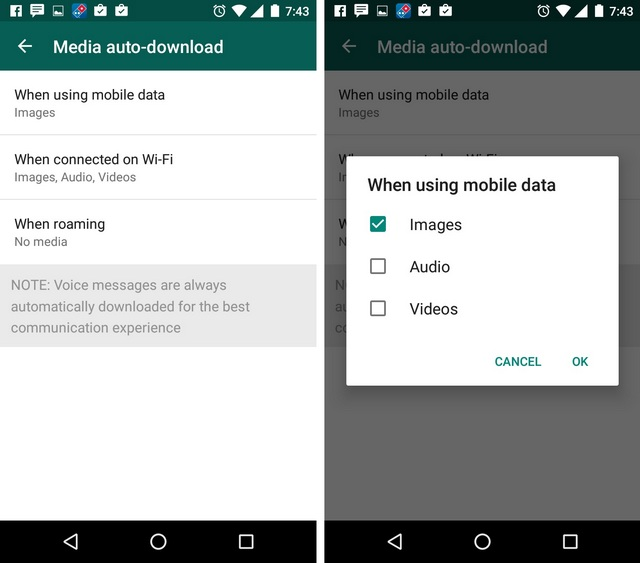WhatsApp Tricks auto download
