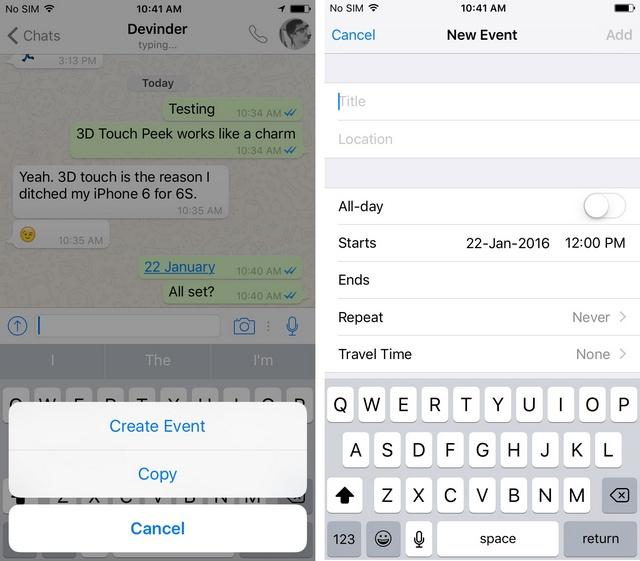 WhatsApp tricks add event