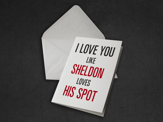 Sheldon Geeky Card