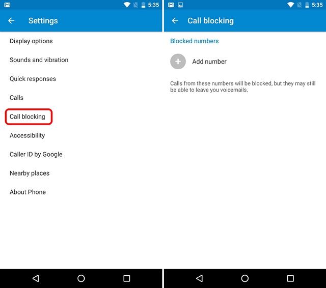 Android N tricks call blocking]