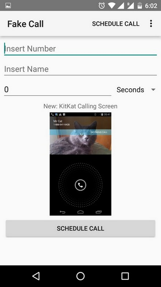 Fake Call Android App