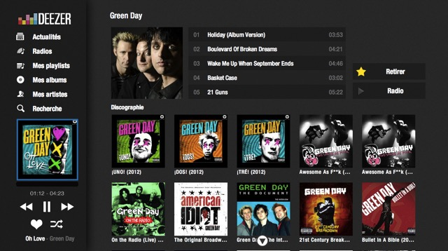 Spotify -bb- Deezer