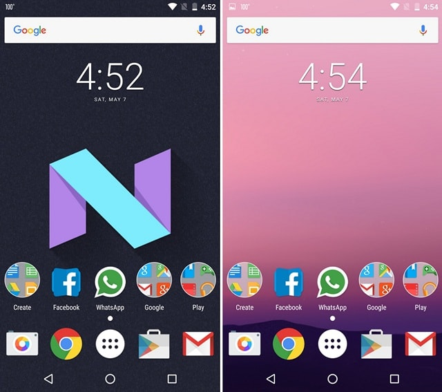 Android N Nova Launcher Theme