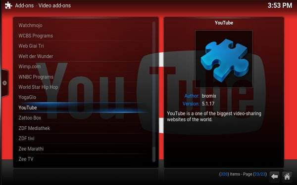 kodi-youtube-addon