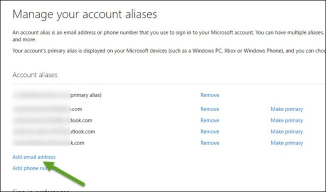 outlook add email address