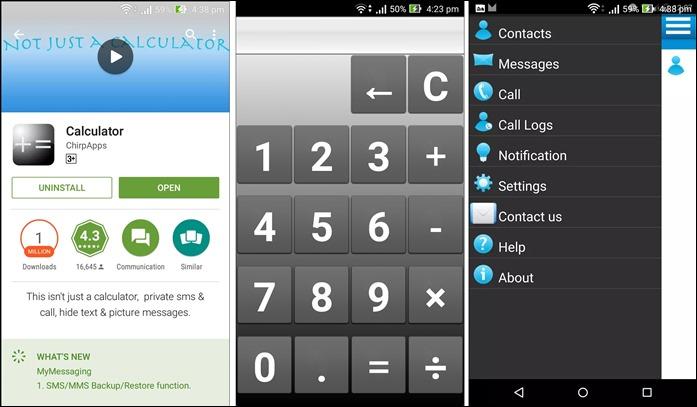 versteckte Text-App iphone