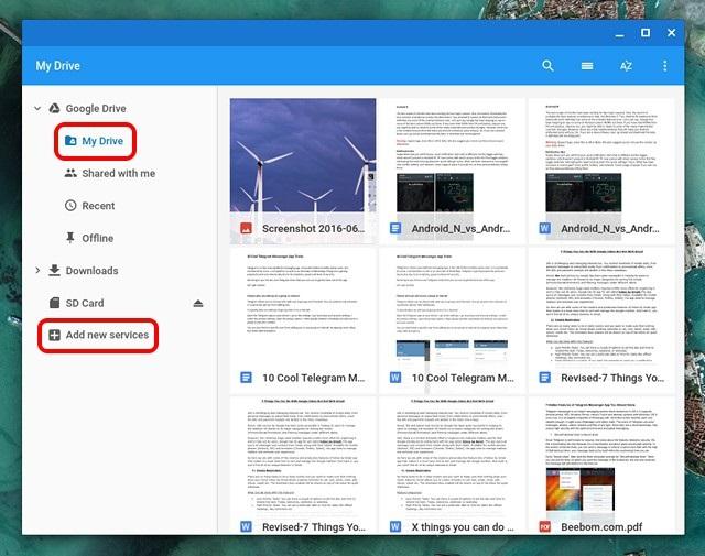 Chrome OS My Drive