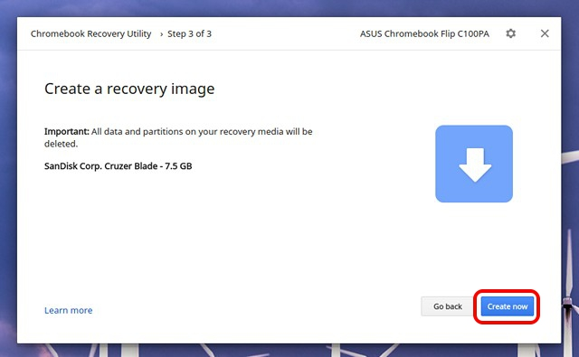 Create Recovery Image Chromebook