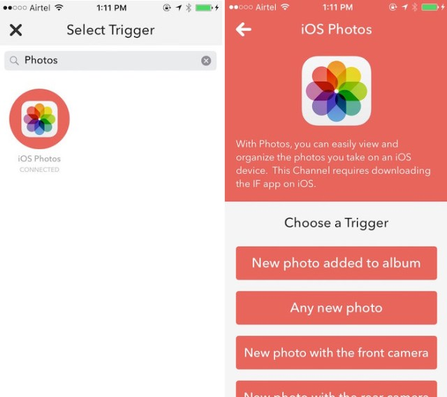 ios trigger and ios trigger actions