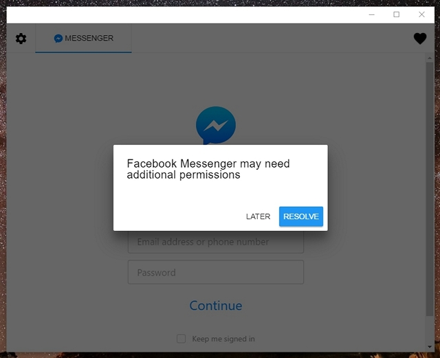 All in one messenger permissions