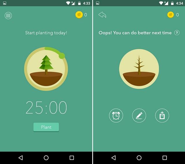 Forest motivation app