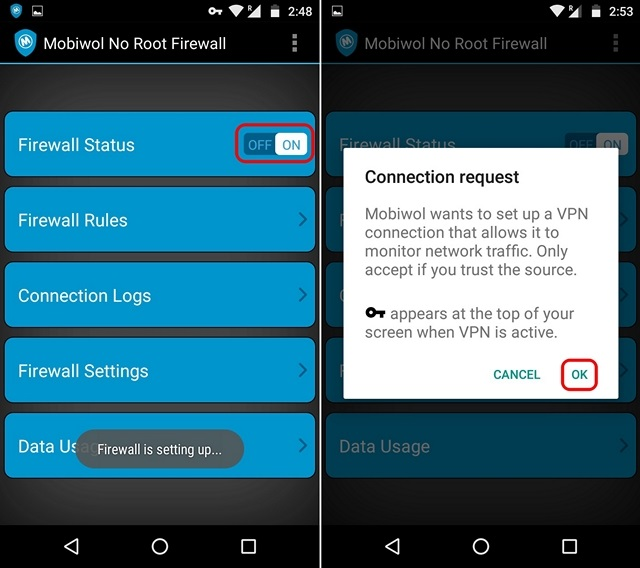 Mobiwol VPN request