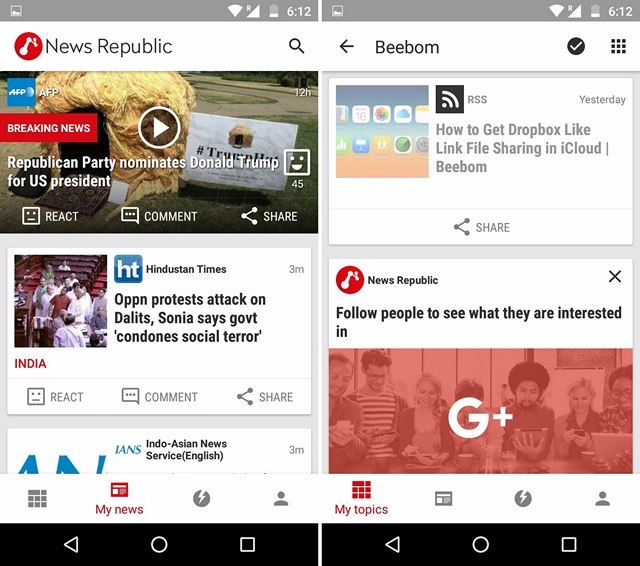 News Republic Android App