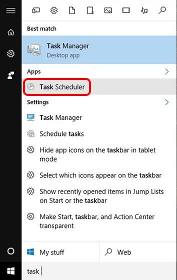 Search Task Scheduler