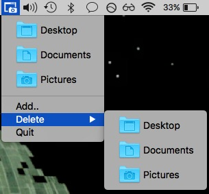 change default screenshot location on mac app open in menubar