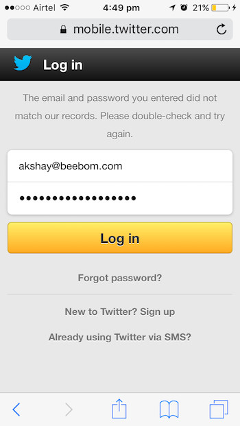 view password hidden behind asterisk iphone safari target website