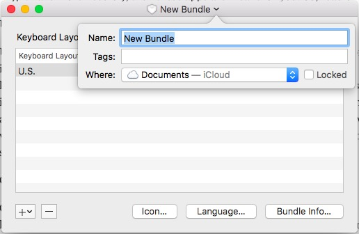 bundle name