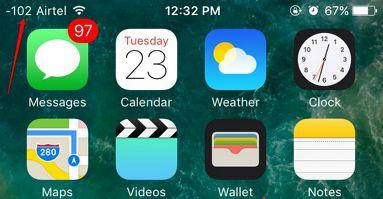 iPhone secret codes signal in decibels