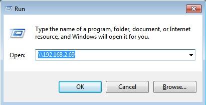 compartir archivos entre Mac y PC ejecutar ventana