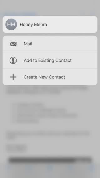 3d touch in mail