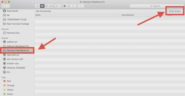compartir pantalla mac