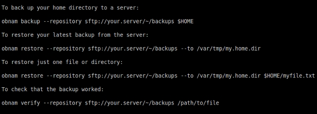 Linux-backup-software-obnam