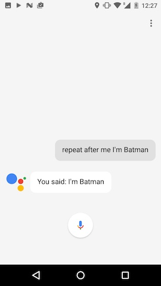 google assistant tricks repeat after me