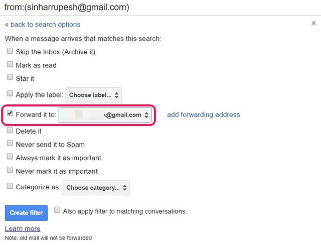 E-Mails in Google Mail über Filter automatisch weiterleiten
