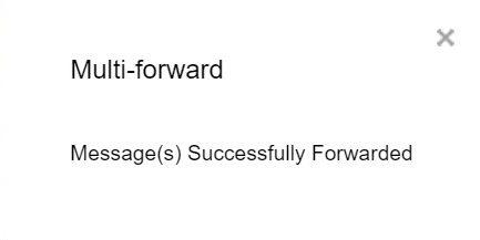 mehrfach per E-Mail weitergeleitet