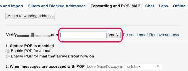 Überprüfen Sie die Google Mail-Weiterleitungsadresse