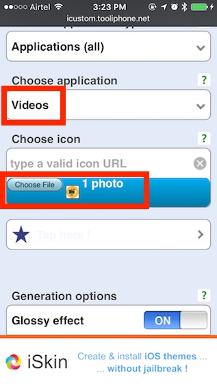 icono de carga de videos