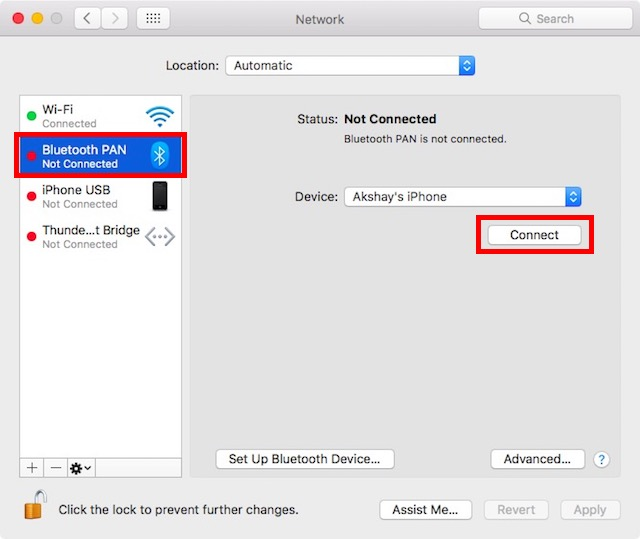 how to connect wifi from mac to iphone