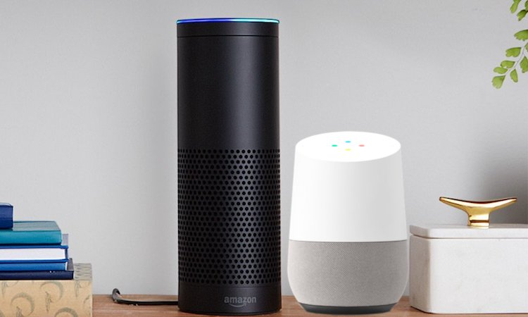 google home vs amazon echo google assistant takes on alexa beebom. Black Bedroom Furniture Sets. Home Design Ideas