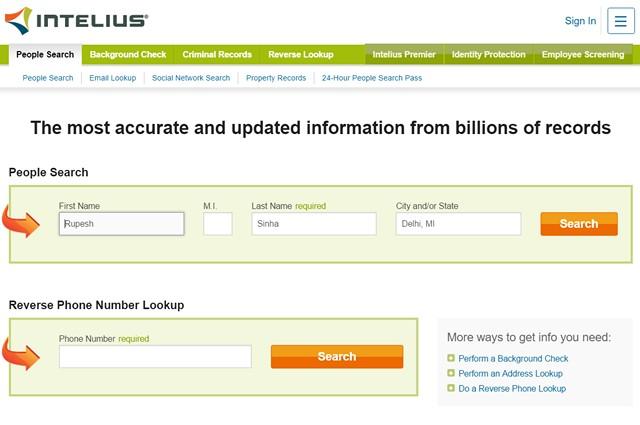 Intelius-люди-поисковые системы