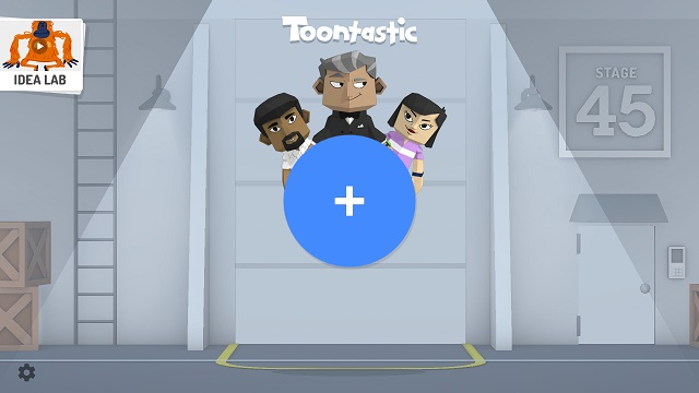 Toontastic Homescreen