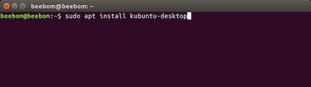 apt install kubuntu